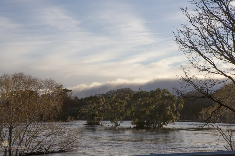 South Esk in flood near Montford, just out of Longford.
